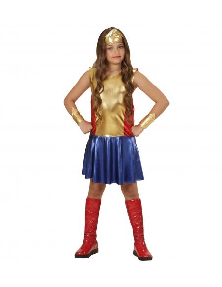 Déguisement Wonder Girl (robe, bandeau, manchettes)