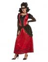 Déguisement femme vampire gothique, Noir (robe et masque pour les yeux)