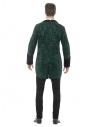 Costume vampire vert (queue de pie avec chemise attachée, pantalon et broche)