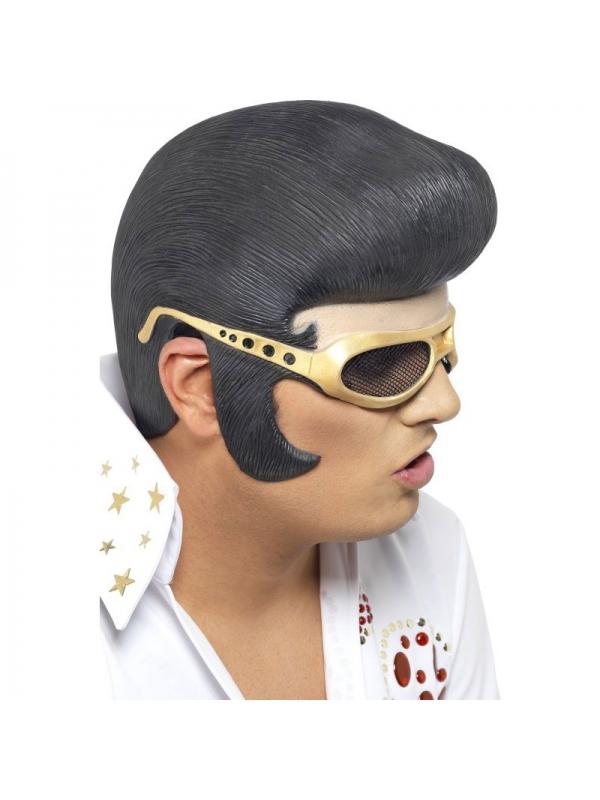 Perruque Elvis avec lunettes